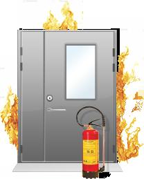 Стеклянные противопожарные двери