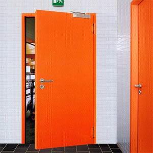Применение противопожарных дверей