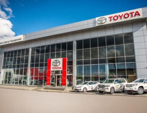 Производство противопожарных светопрозрачных перегородок EIW60 для дилерского центра Toyota