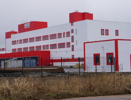 Производство и монтаж  противопожарных штор EI60 для завода Вюрт