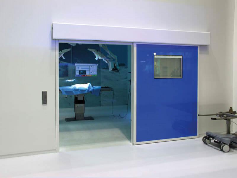 Двери для чистых помещений откатные или раздвижные