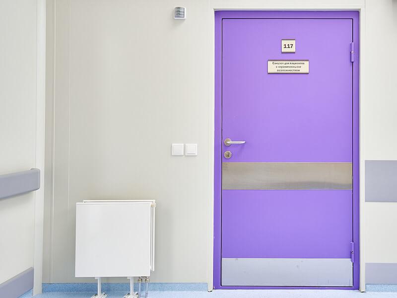 Рентгенозащитные двери одностворчатые