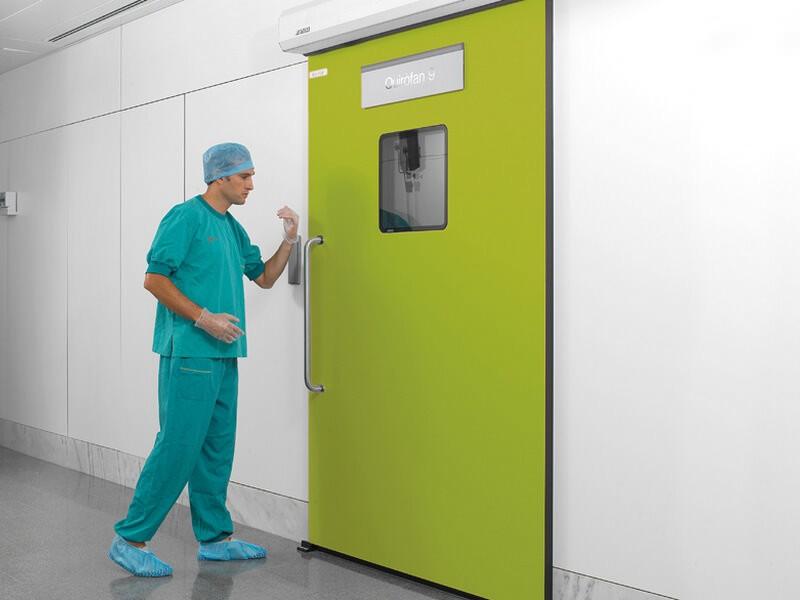 Рентгенозащитные двери одностворчатые с остеклением
