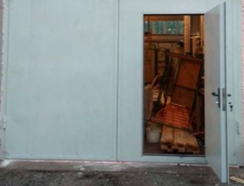 Производство и монтаж противопожарных искронедающих ворот с калиткой для АО «ВыборгТеплоЭнерго»